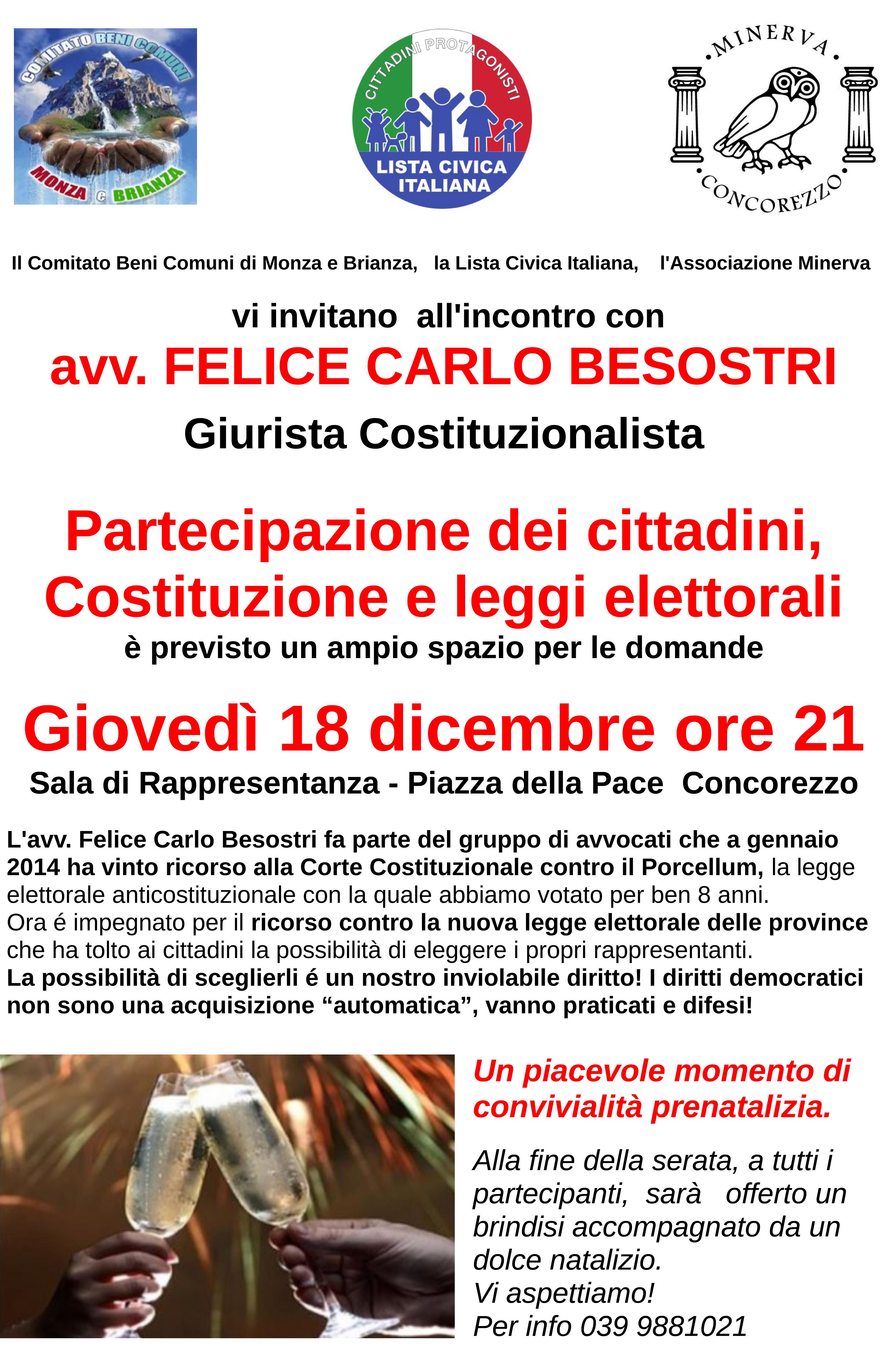2014-14 Locandina per serata con avvocato Besostri del 18 dic 2014 sulle leggi elettorali