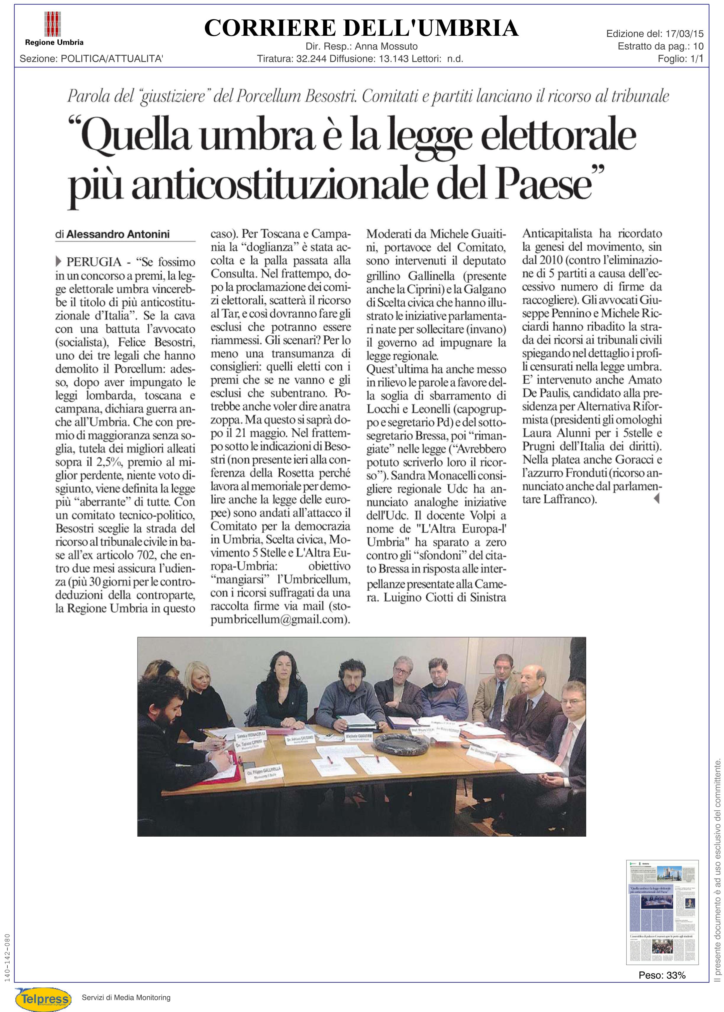 corriere umbria 17-03-2015